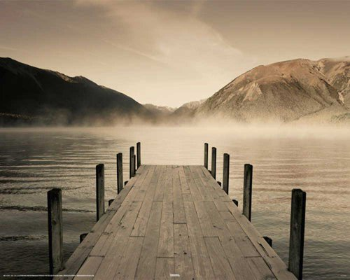 Empire 420749 Jetty - Lake Rotoiti Mini Poster - 50 x 40 cm