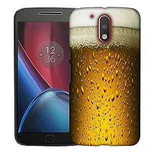 Snoogg Chilled Beer Designer Protective Back Case Cover For MOTOROLA G4 / G4 PLUS