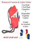 Water Proof Cigarette & Disposable Lighter Case #672 - Assorted Colors