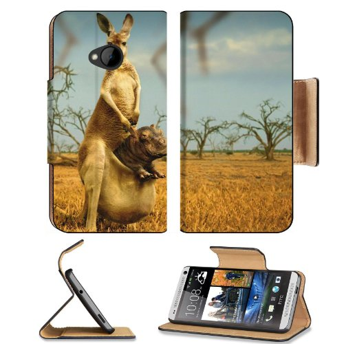 Animal Australia Kangaroo Baby Mammal Nature Htc One M7 Flip Cover Case With Card Holder Customized Made To Order Support Ready Premium Deluxe Pu Leather 5 11/16 Inch (145Mm) X 2 15/16 Inch (75Mm) X 9/16 Inch (14Mm) Liil Htc One Professional Cases Accesso front-159002