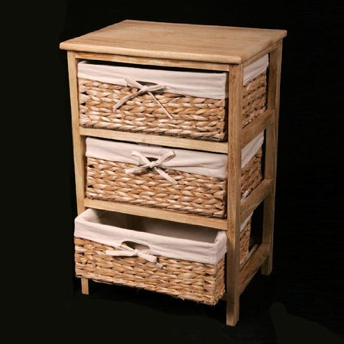DRAWER SET WICKER FARMHOUSE RUSTIC CHABBY CHIC