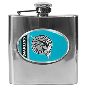 Florida Marlins MLB 6oz Stainless Steel Flask by Great American Products