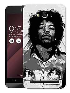 """Humor Gang Jimi Hendrix Vintage Life Printed Designer Mobile Back Cover For """"Asus Zenfone Selfie"""" (3D, Matte, Premium Quality Snap On Case)"""