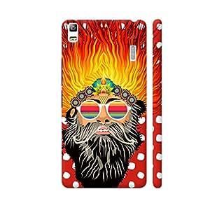 Colorpur Cool Saadhu On Red Designer Mobile Phone Case Back Cover For Lenovo K3 Note | Artist: Sangeetha