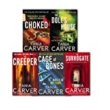 Tania Carver Tania Carver Brennan and Esposito Series Collection 5 Books Set, (hoked, The Surrogate, The Creeper, Cage Of Bones, Choked and The Doll's House)