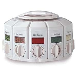KitchenArt 25000  Auto Measure Spice Carousel without Spices, White