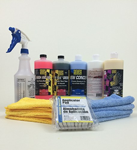 Ardex Detailing Kit - For Exterior Finish. Tires, Rims, Trim & Leather 16 oz (Miami Shine Wax compare prices)