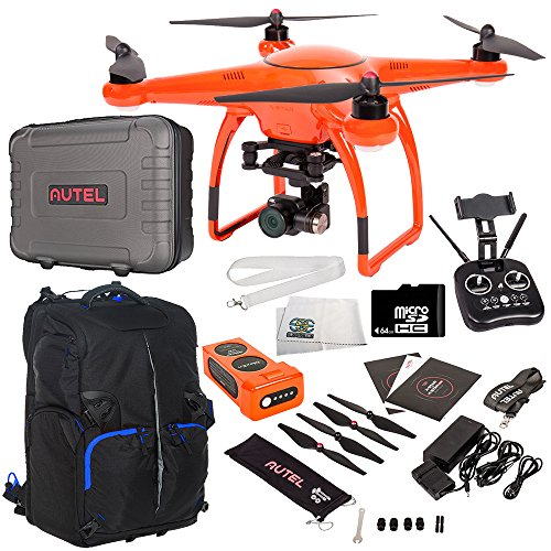Autel Robotics X-Star Premium Quadcopter with 4K Camera and 3-Axis Gimbal Accessory Bundle - Includes Manufacturer Accessories + 64GB Micro SD Card + Drone Backpack + MORE