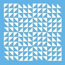 DecoArt Americana Mixed Media Stencil 12 by 12-Inch Triangle Patchwork