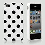 White Polka Dot Flex Gel Case for Iphone 4 & 4S