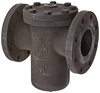 "Flexicraft BIF Cast Iron Basket Strainer with Flange End, 4"" ID x 11-1/2"" Length"