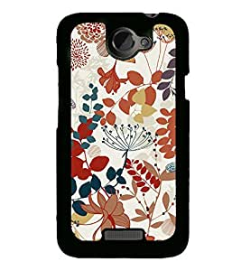 Flowers Leaves Pattern 2D Hard Polycarbonate Designer Back Case Cover for HTC One X :: HTC One X+ :: HTC One X Plus :: HTC One XT