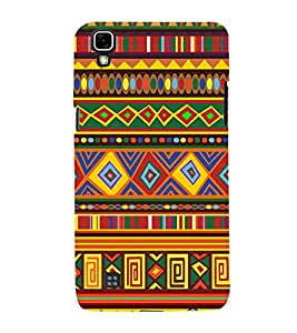 Rangoli Design Pattern 3D Hard Polycarbonate Designer Back Case Cover for LG X Power
