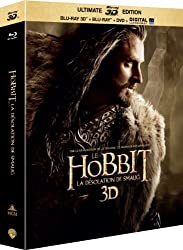 Le hobbit : la désolation de smaug - Blu-ray 3D + 2D + DVD + DIGITAL HD Ultraviolet