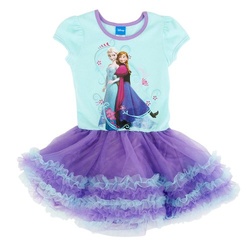 Frozen Dress Girl's Tutu Dress Party Dress, Purple (Size:M,Suitable For Height 110-120 Centimeter)