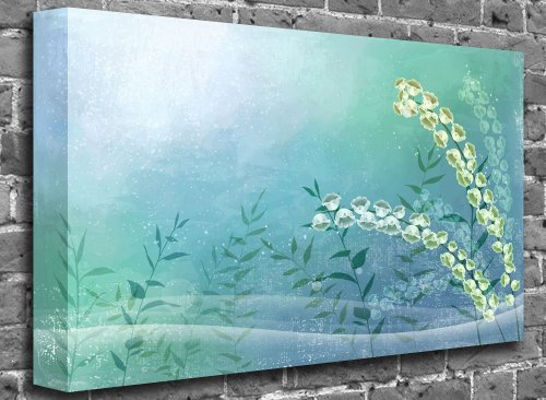 "Animated Flower and Birds Nature Canvas Art Canvas Print Print Picture Size: (36"" x 24"")"
