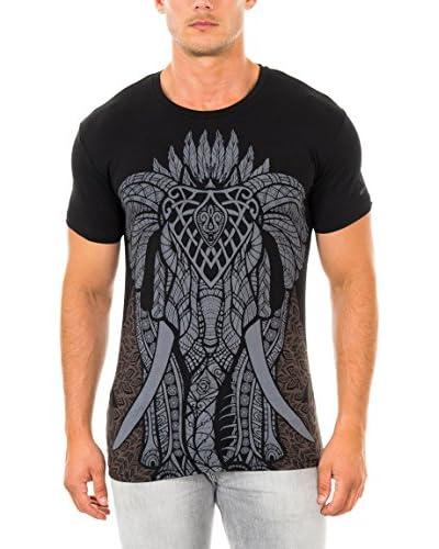 883 Police T-Shirt Manica Corta Gothic Elephant  [Nero]