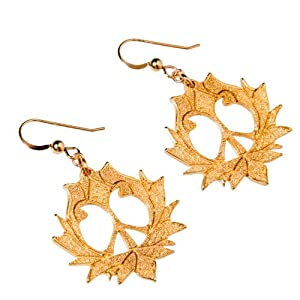 Peace Lotus Gold-dipped Earrings on French Hooks