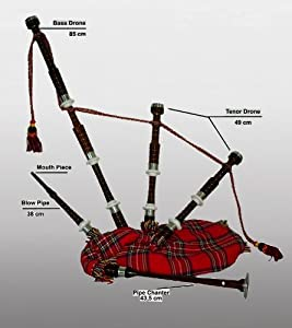 Great-Highland Dudelsack Rot - Bagpipe