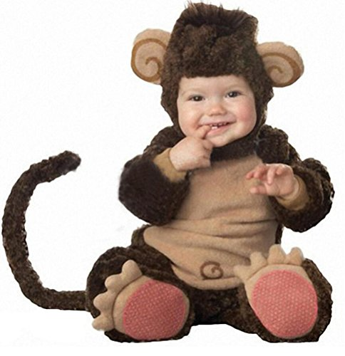 [Unisex Infant Baby Toddlers Halloween Cute Monkey Animal Costume (0-3 Months)] (Monkey Halloween)