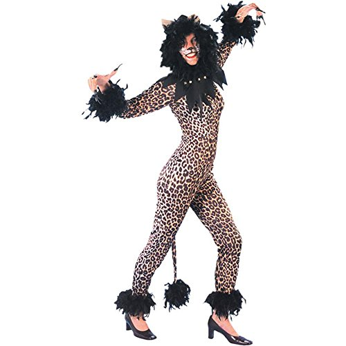 Adult Leopard Cats Musical Halloween Costume (Size: 16)