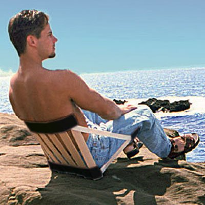 Ergolife Stol Strandstuhl Campingstuhl Faltstuhl Ergositz Klappstuhl von Ergolife bei Gartenmöbel von Du und Dein Garten
