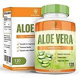 Aloe Vera, Complément à la Puissance Maximale pour la Perte de Poids, Nettoie en Douceur et Détoxifie votre Système Digestif, Guérit et Hydrate votre Peau, 6000mg, 120 comprimés - Best Reviews Guide