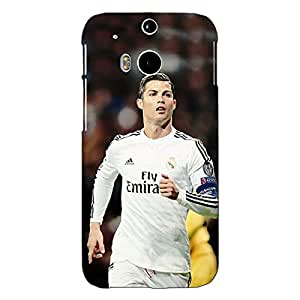Jugaaduu Cristiano Ronaldo Real Madrid Back Cover Case For HTC One M8 Eye