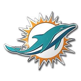 NFL Miami Dolphins Die Cut Color Automobile Emblem