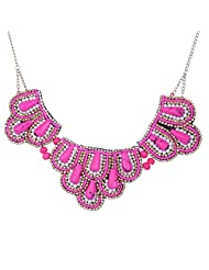 Chokers And Charms Elegant Pink And Gold Coloured Beads Choker Necklace For Women