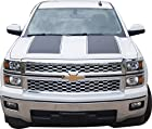 Chevrolet Silverado Rally Stripes - Vinyl Graphics - 375 - Supreme Matte Black