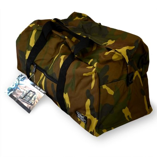Relaxdays Sporttasche im Armylook - Reisetasche