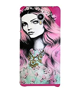 PrintVisa Beautiful Girl Art 3D Hard Polycarbonate Designer Back Case Cover for Meizu M2 Note