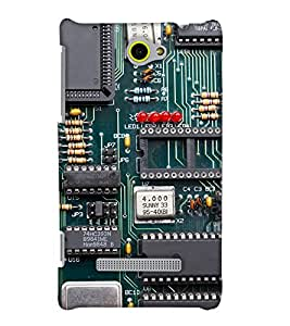 PrintHaat Designer Back Case Cover for HTC Windows Phone 8S :: HTC 8S :: Graphical design (circuit board :: mechanical :: hardware lover :: green)