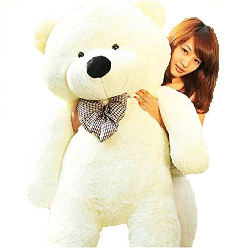 YunNaSi Giant 47'' Baby Cuddly Plush Teddy Bear, 5 Colors, Big Stuffed Animal Toy (120cm White Bear) (Vt Teddy Bear compare prices)