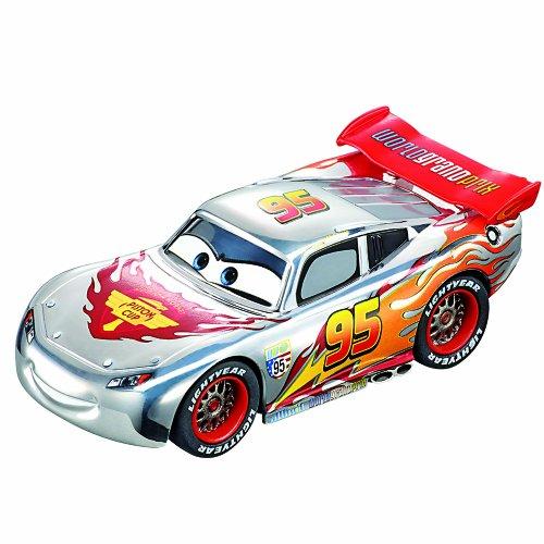 Carrera GO!!!! 1/43 Scale Slot car, Cars Lightning McQueen: Chrome Edition