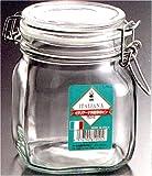 イタリアーナ 角型ガラス保存ビン 750ml  L-1010