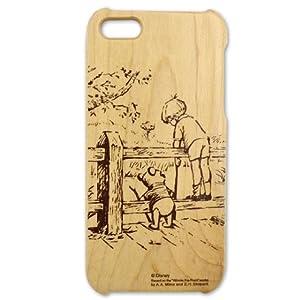 Woodケース iPhone5 (プーさん&クリストファーロビン)