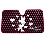 Minnie Mouse Car Front Windshield Sunshade Hearts Print
