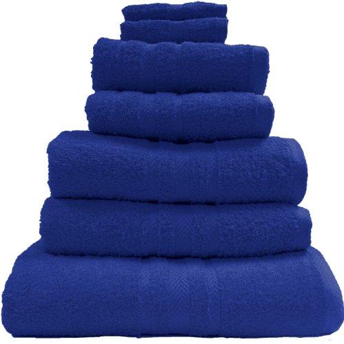 100% Pure Cotton Luxury Plain Royal Blue Face Cloth / Flannel - 550gsm, 30x30cms