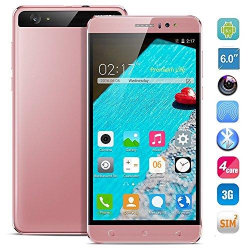 hyrichr-unlocked-6-inch-android-51-3g-smartphone-gsm-cell-phone-dual-sim-1g-ram-fast-8gb-rom-rose-go
