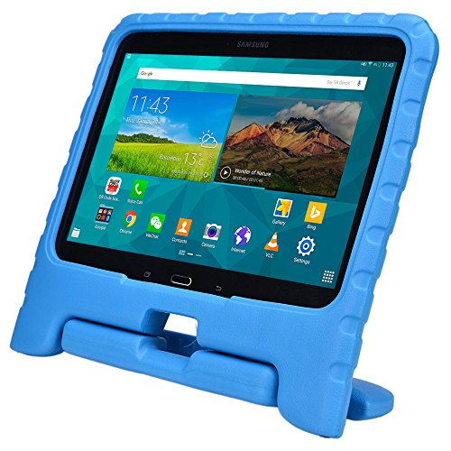 Samsung Galaxy Tab 4 10.1 & Tab 3 10.1 kids case, COOPER DYNAMO Rugged Heavy Duty Children Boys Girls Toy Drop Proof Protective Case Cover Handle, Stand SM-T530 T531 T535 GT-P5200 P5210 P5220 Blue (Old Book Case For Samsung Tablet compare prices)
