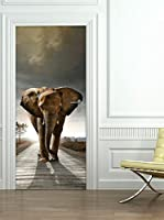 Ambiance-sticker Vinilo Decorativo Door Elephant
