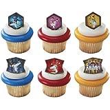 Power Rangers Mega Force Cupcake Rings - 24 ct