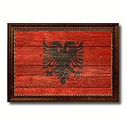Albania National Textured Flag Art Country Office Wall Home Decor Bedroom Livingroom Masteroom ManCave Bar Gift Idea, 19\