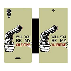 Phone Candy Designer Flip Cover with hi-res printed Vinyl sticker wrap-around for Micromax Canvas Selfie Q345