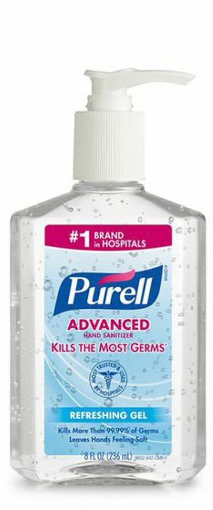 Purell Advanced Instant Hand Sanitizer, 8 Ounce (Pack of 6) new language leader advanced coursebook with myenglishlab pack