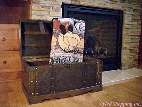 Antique Victorian Wood Trunk Wooden Treasure Hope Chest -- Medium Size 1