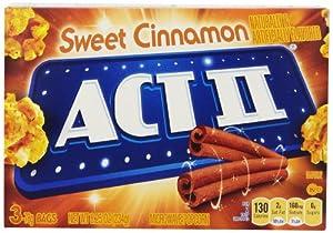 Act II Popcorn, Sweet Cinnamon, 8.25 Ounce (Pack of 12)