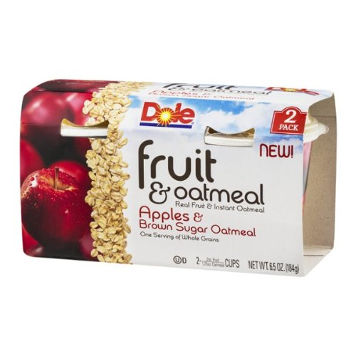 Dole Fruit & Oatmeal Apples & Brown Sugar Oatmeal - 2 Ct